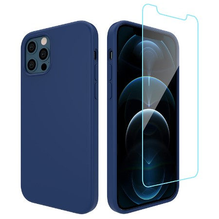 Picture of Lucid Case for iPhone 12/12 Pro w/Glass Screen Guard, Blue Horizon